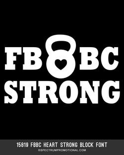 15819 FBBC Heart Strong Block Font