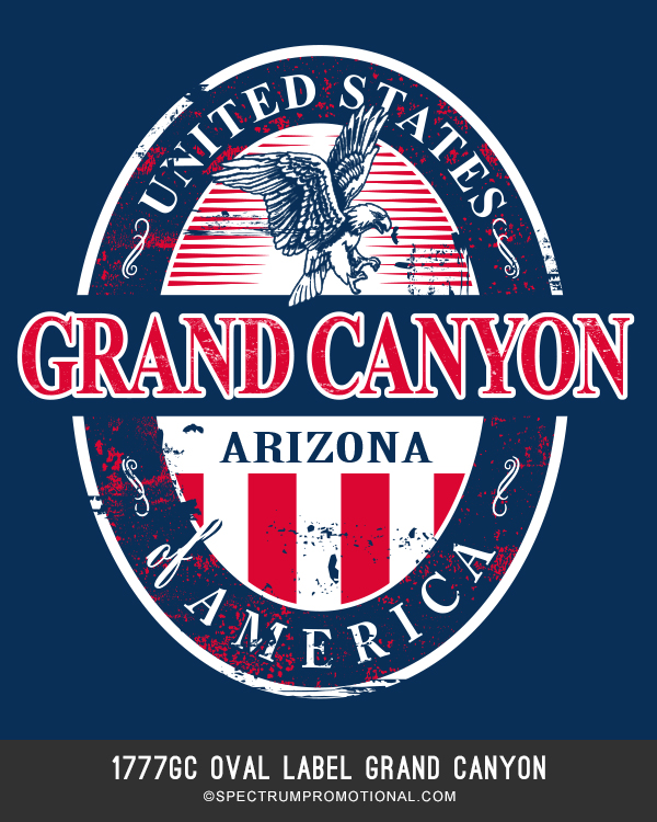 1777GC Oval Label Grand Canyon