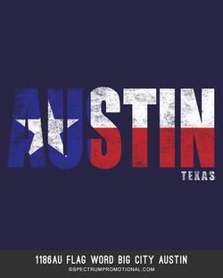 1186AU Flag Word Big City Austin