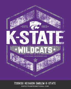 7205KSU Hexagon Emblem K-State