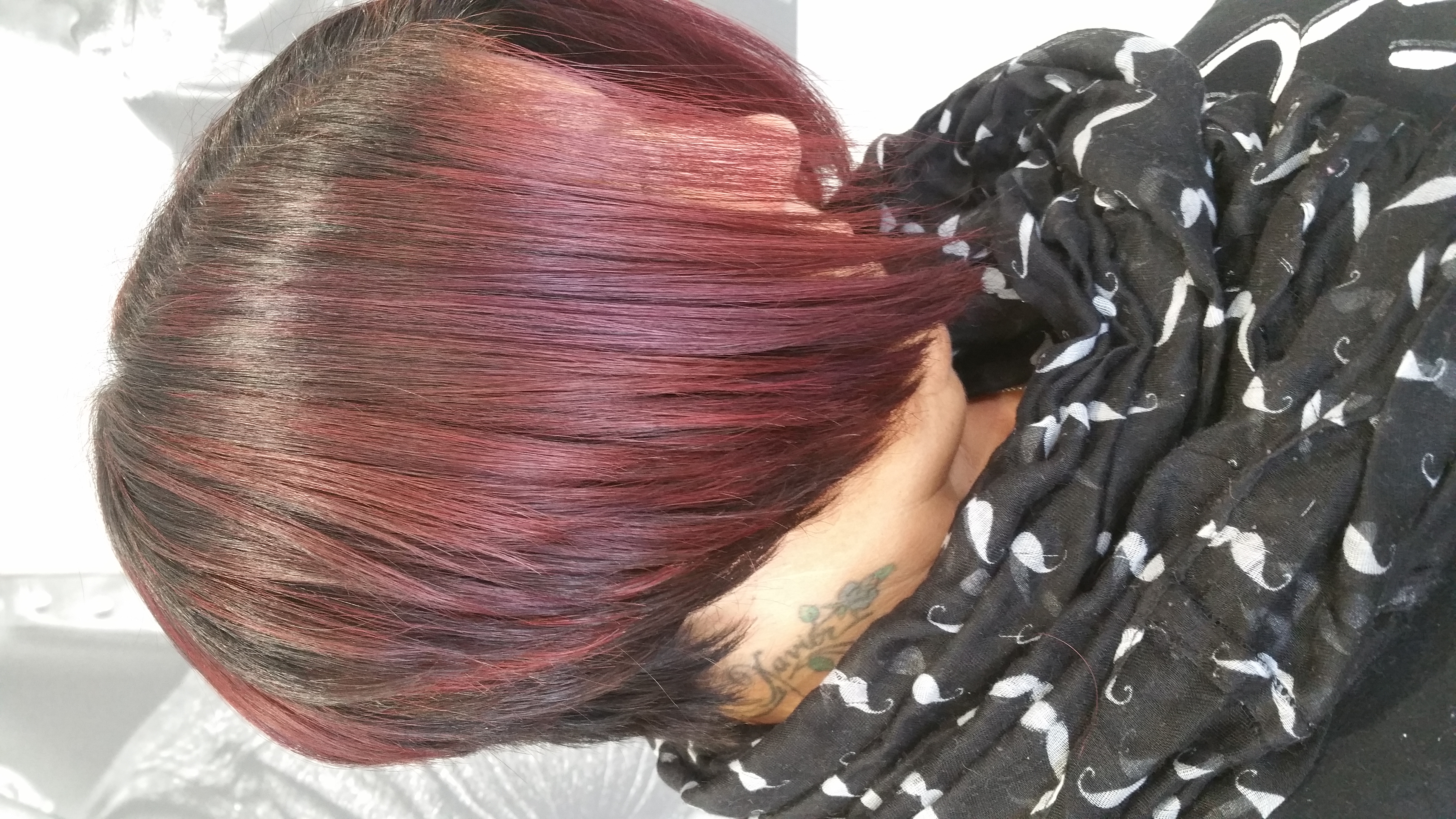 Red, Copper & Purple Highlights