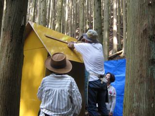 森の小屋作り