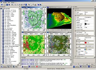 Maps produced using free GIS software SAGA GIS