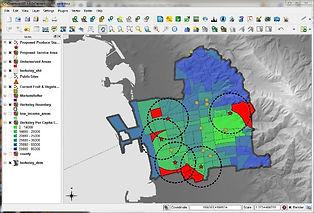 Maps produced using free GIS software QGIS