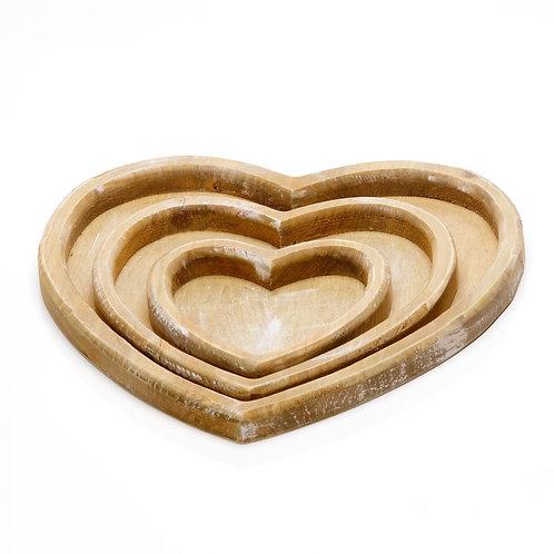 Bandeja Wood Coração P