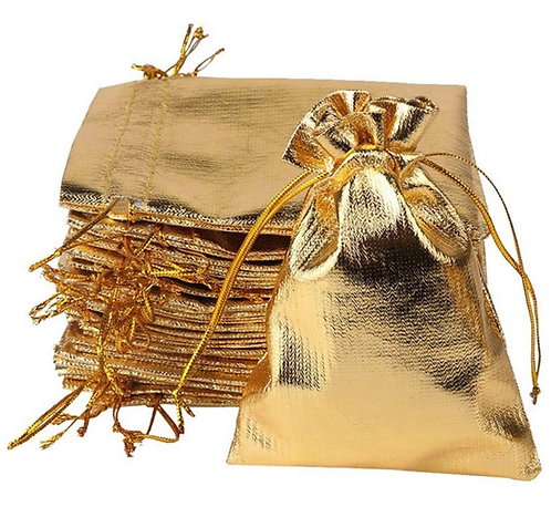 Gold Drawstring Bags