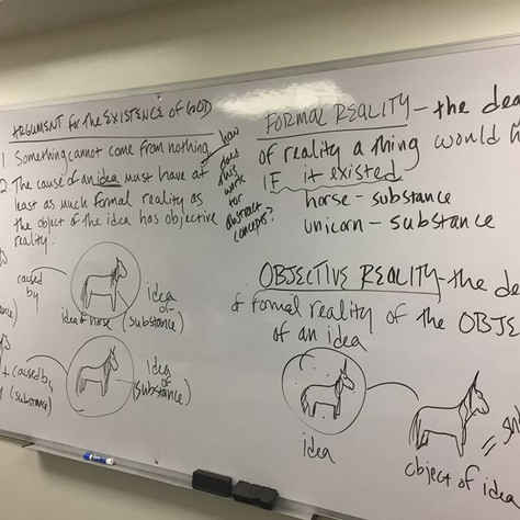 Unicorns and Descartes's Proof of God's Existence (Fall 2018)