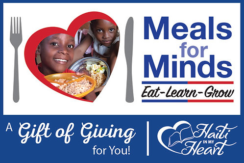 Donation Gift Card -Meals for Minds