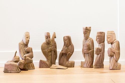 Nativity Scene - Wood Carved