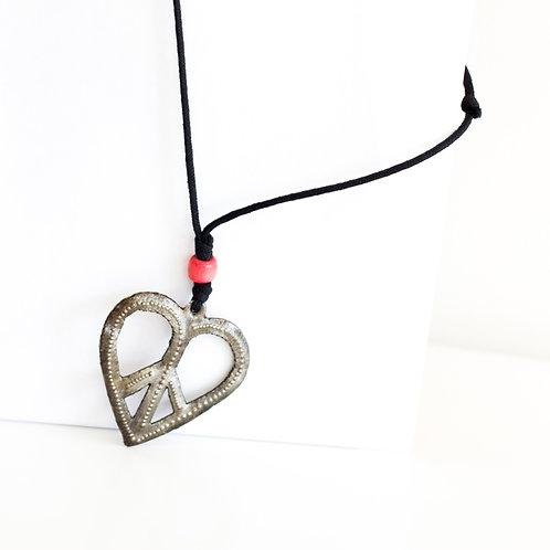 Haitian Metalwork Art - Heart Pendant Necklaces