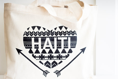 Love Haiti Tote Canvas Bag