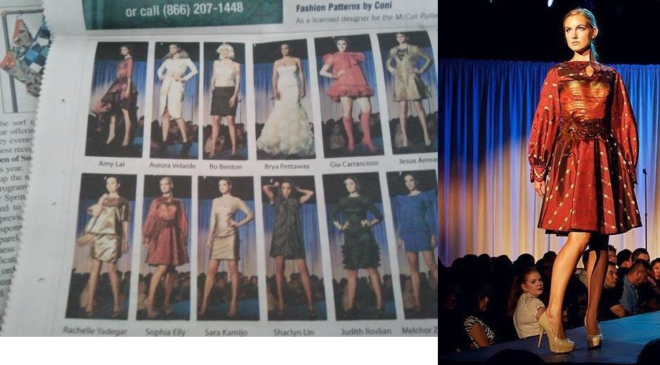 Sophia Elly in FCI Fall 2013 Fashion featured in California Apparel News