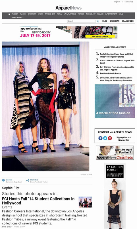 FCI Hosts Fall '14 Student Collections in Hollywood