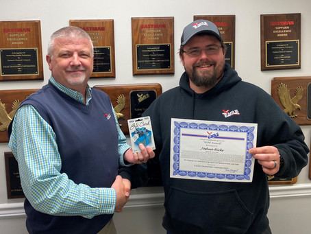 "Josh Hicks Wins ""WOW"" Award"