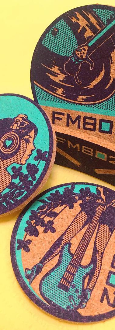 FM802 CorkCoaster Set