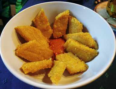 Knuspriger Kicher-tofu