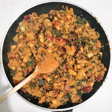 Mangold-Kichererbsen Pfanne mit Quinoa