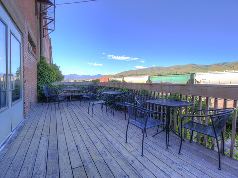 The back deck.