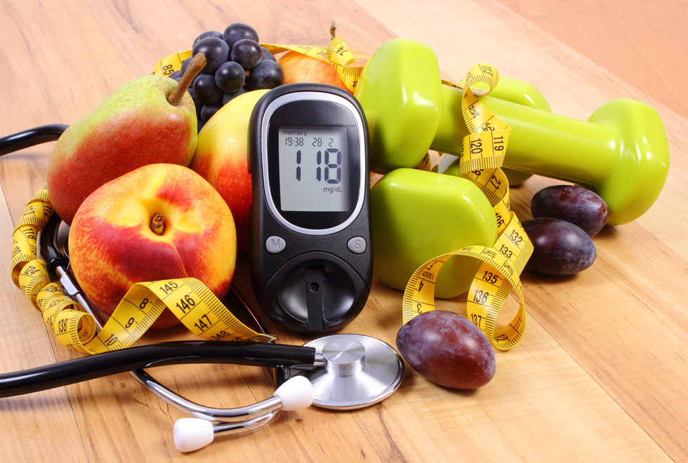 Glucose meter with medical stethoscope,