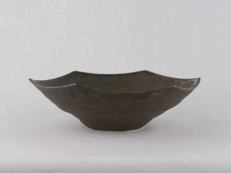 青磁六角鉢・黒 Ceramic Hexagon Bowl / Black