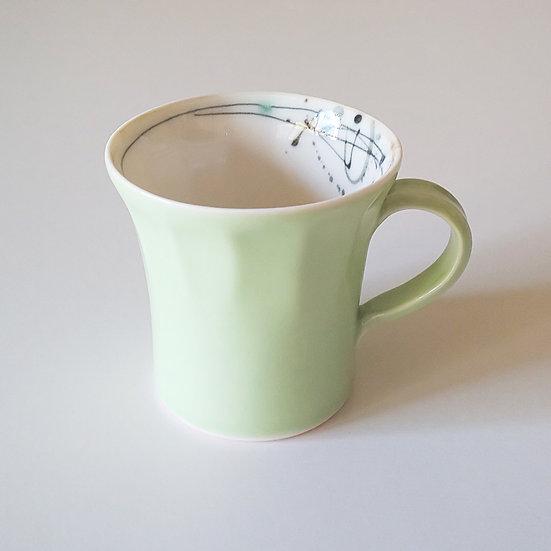 16 面取りマグカップ 若草色