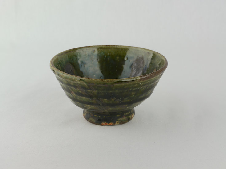 <完売> 織部飯碗 全緑 Oribe Rice Bowl All Green