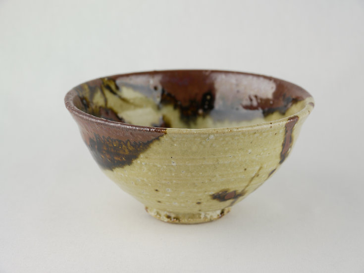 中椀 口柿釉02 Rice bowl Persimmon color edged