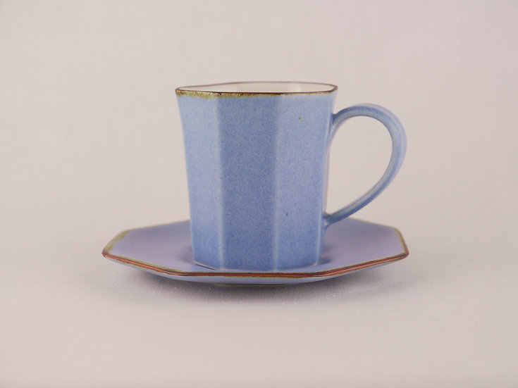 <完売>面取 Cup & Saucerすみれ色(磁器)Violet Ceramics