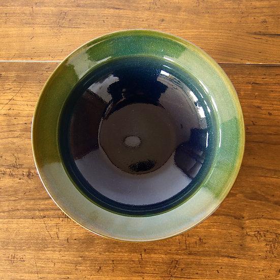 24 6寸浅鉢(オリーブグリーン)