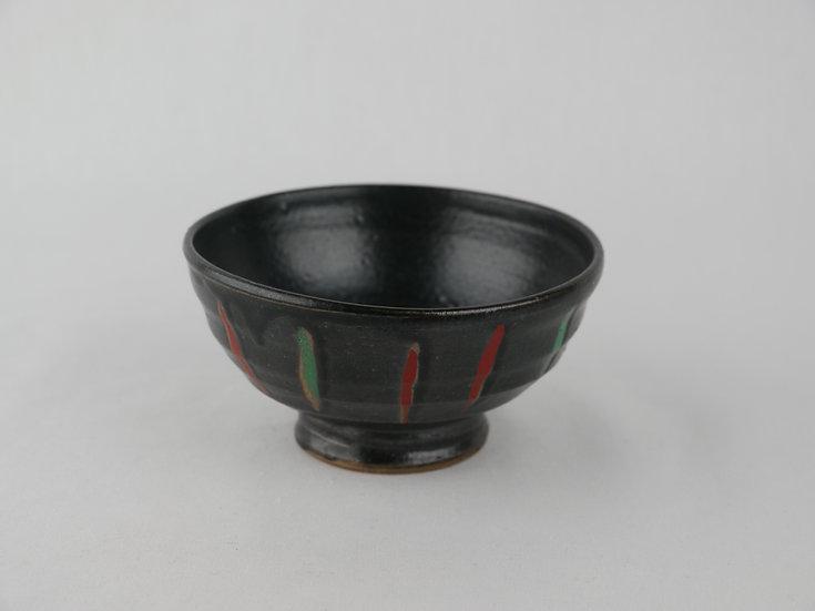 <完売>黒釉茶碗 Black Rice Bowl