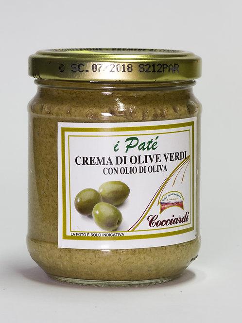Crema di Olive verdi con Olio di Oliva