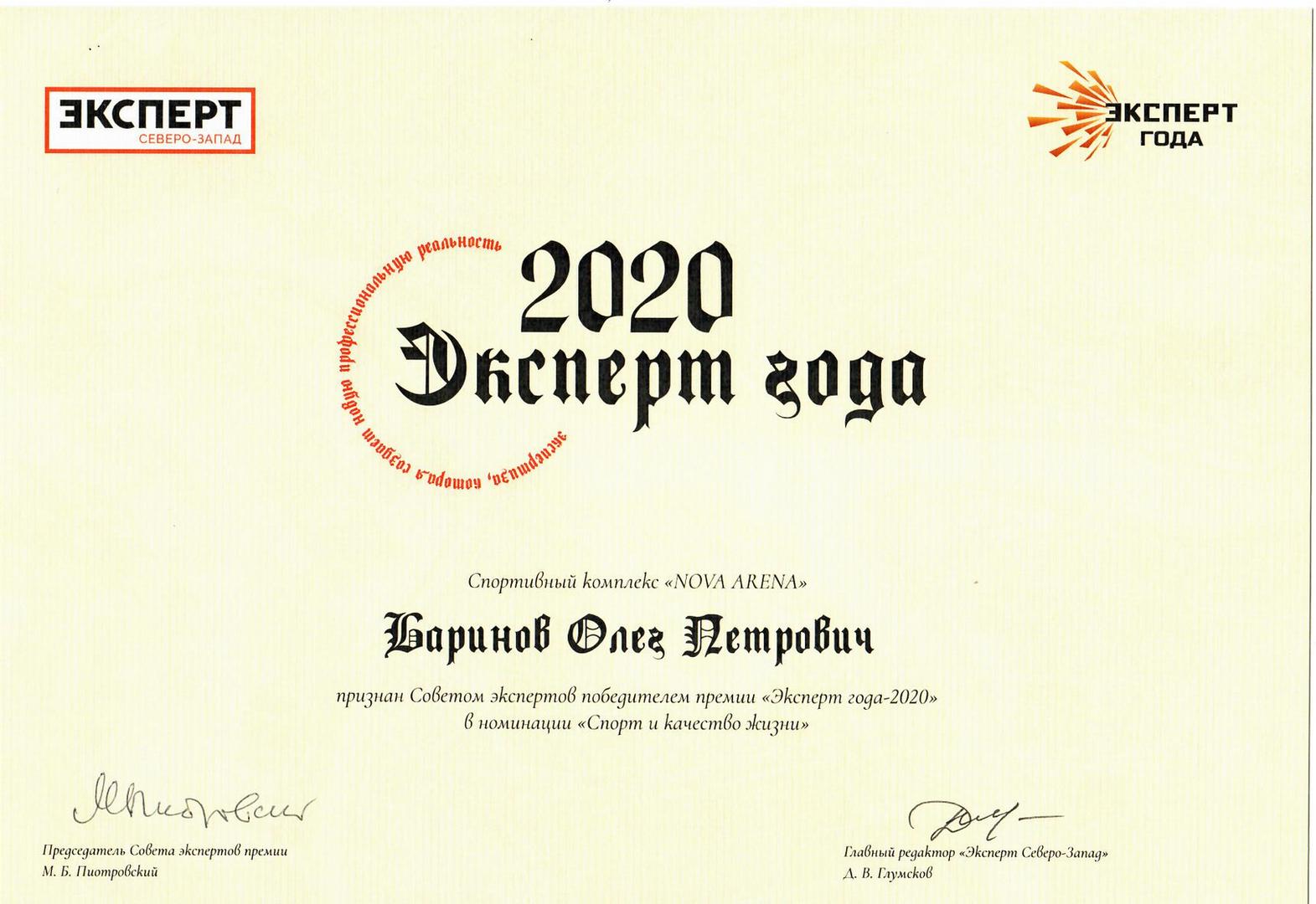 Эксперт Года 2020