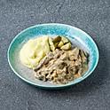 Бефстроганов с картофельным пюре