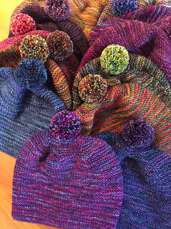 Hats with Pompoms!