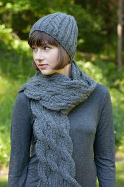 Alpaca Hat and Scarf