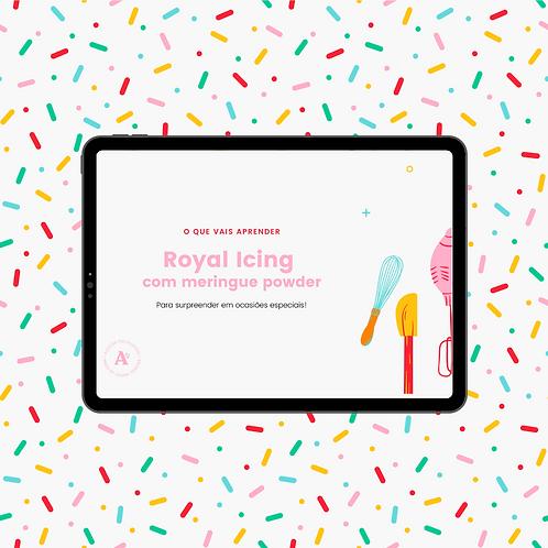 Receita Royal Icing com meringue powder