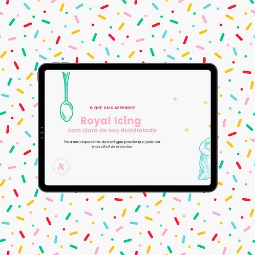 Receita Royal Icing com claras desidratadas