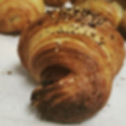 Ham, Cheddar, Za'atar Croissants all wee