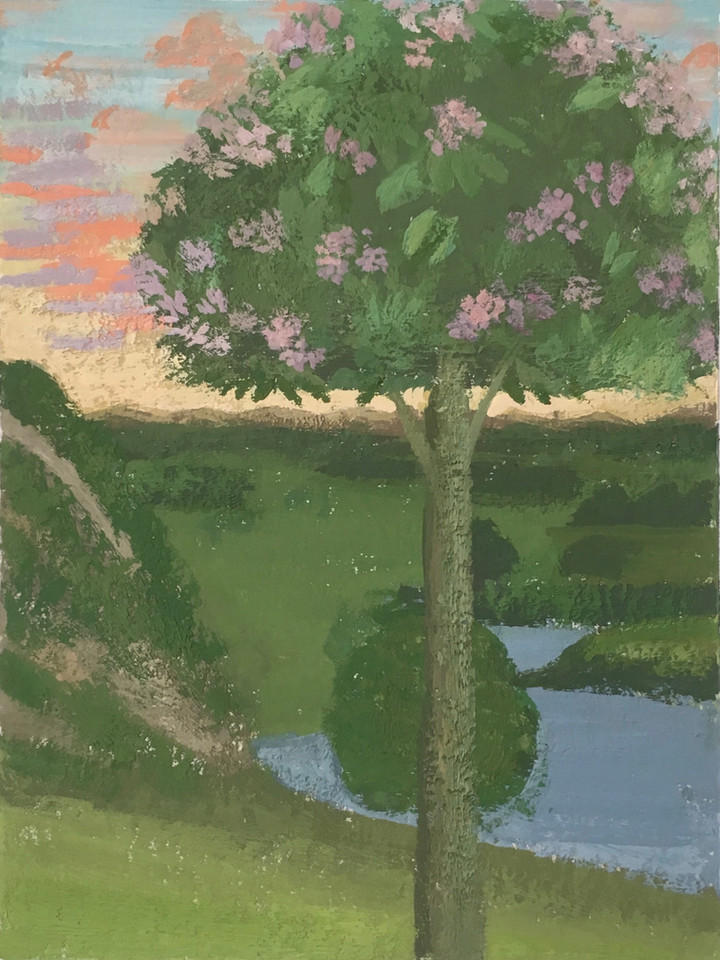 Crepuscule (Lovers by a Tree)