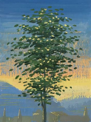 Evening tree (Noli me tangere, Poncher Hours)