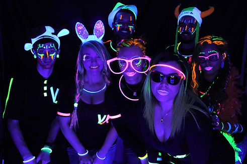 Black Light photo booth rental in Atlanta