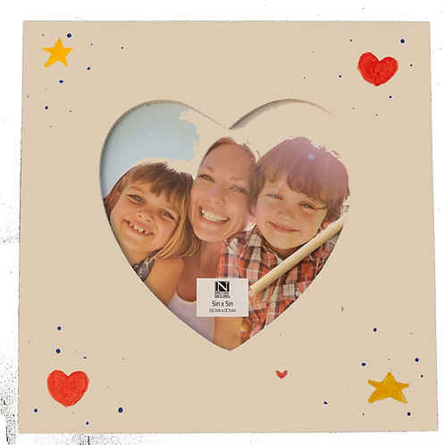 Square Heart Picture Frame - Kids Craft