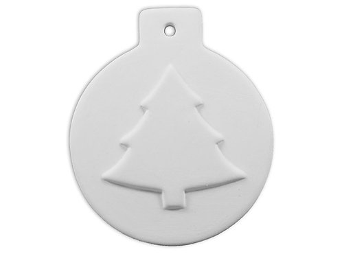 Flat Ball Ornament - Christmas Tree