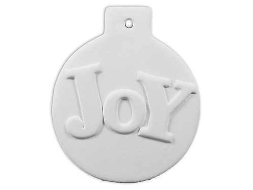 Flat Ball Ornament - Joy