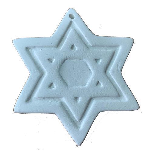 Star of David Ornament (2 qty)