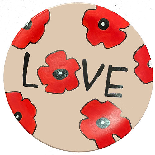 """8"""" Round Plate -Love design"""