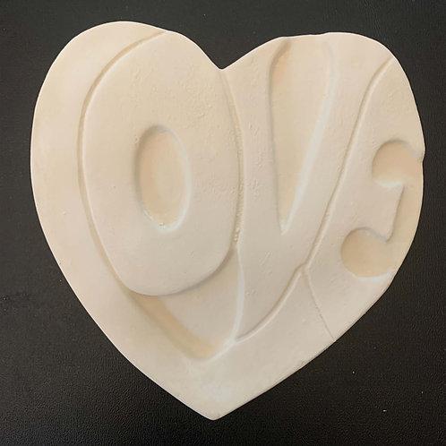 L-O-V-E Heart - Plaster