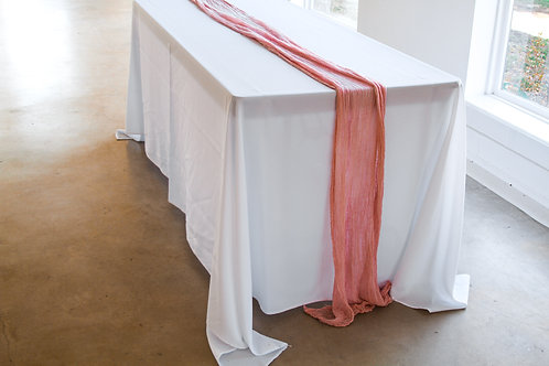 Blush Pink Gauze Table Runner