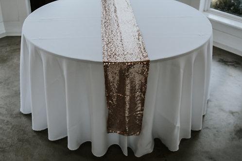 Rose Gold Glimmer Table Runner