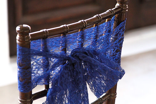 Navy Lace Chair Sashes